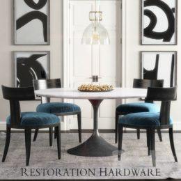 دانلود مدل سه بعدی ست میز و صندلی مدرن