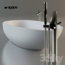 دانلود آبجکت وان حمام از Pro 3DSky
