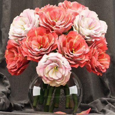 مدل سه بعدی گل و گلدان زینتی