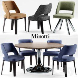 دانلود آبجکت ست میز و صندلی مدرن