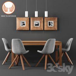 دانلود مجموعه آبجکت ست میز و صندلی از Pro 3DSky