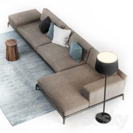 دانلود مدل سه بعدی مبل و میز جلو مبلی مدرن