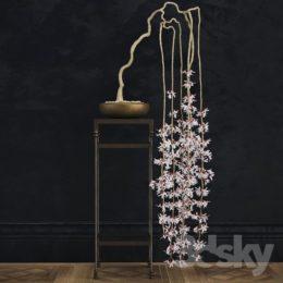 دانلود مدل سه بعدی گل و گلدان زینتی و طبیعی از Pro 3DSky