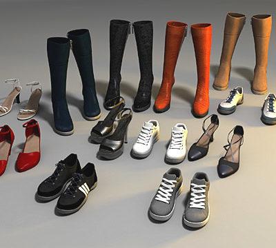 آبجکت لباس و کفش