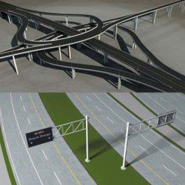 دانلود رایگان مجموعه آبجکت پل و جاده