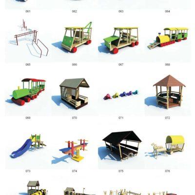 مدل سه بعدی لوازم پارک