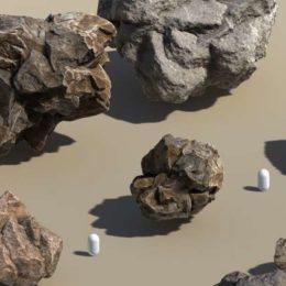 دانلود آبجکت سنگ اسکن شده