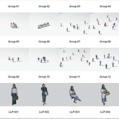 مدل سه بعدی انسان لاو پولی