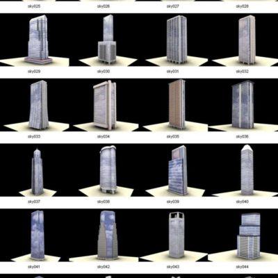 مدل سه بعدی آسمان خراش