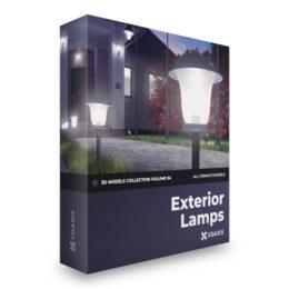 دانلود رایگان مدل سه بعدی لامپ بیرونی از CGAxis