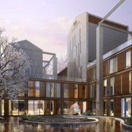 دانلود مدل سه بعدی نما و محوطه ساختمان