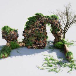 دانلود رایگان مجموعه مدل سه بعدی باغ از Evermotion