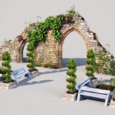 مدل سه بعدی باغ