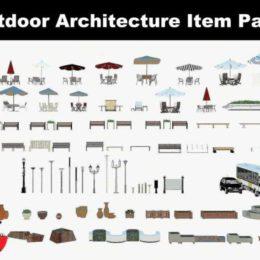 دانلود مجموعه آبجکت فضای خارجی معماری از CGTrader