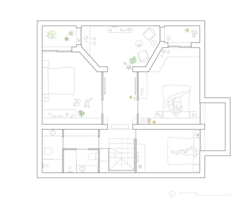 پلان خانه باغ