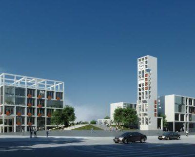 مدل سه بعدی نمای ساختمان
