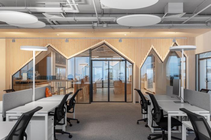 طراحی داخلی دفتر کار شرکت فناوری
