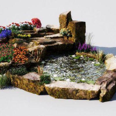 مدل سه بعدی لوازم و تزیینات باغ
