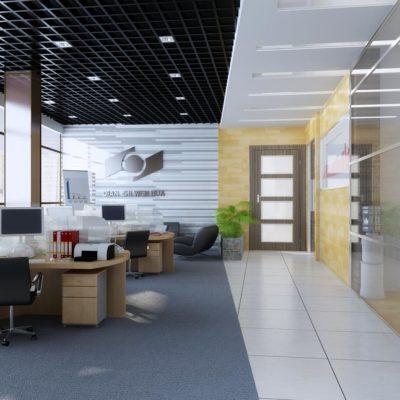 مدل سه بعدی دفتر کار