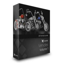 دانلود مجموعه آبجکت موتور سیکلت از CGAxis